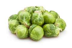 Brussel sprouts. On white background royalty free stock photography