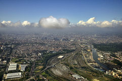 Brussels. Skyline of Brussels in Belgium stock photo