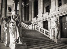 Brussels. Belgium. Monumental architecture landmark - Justice Palace (Palais de Justice). Eclectic and neoclassical style building serves as headquarters of Royalty Free Stock Image