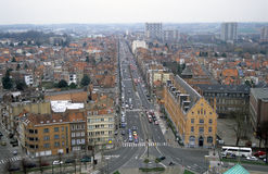 Brussels from Above. View of Brussels from Above stock photography