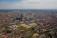 Brussels From Above Royalty Free Stock Image