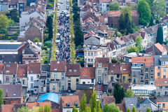 Brussels, aerial view with city buildings Stock Images
