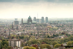 Brussels, aerial view with city buildings Royalty Free Stock Photography