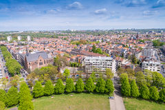 Brussels, aerial view with city buildings Royalty Free Stock Image