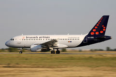 Brussels Airlines Foto de Stock Royalty Free