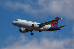 Brussels Airlines - Airbus A319 Imagens de Stock Royalty Free