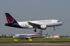 Brussels Airlines flygbuss A319 Arkivfoton