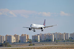 Brussels Airlines Landing At Alicante Stock Photos