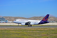 Brussels Airlines Plane Royalty Free Stock Photography