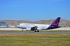 Brussels Airlines surfacent Photographie stock libre de droits