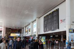 Brussels Airport Terminal Royalty Free Stock Photography