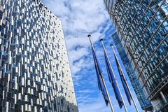Brussels, architecture, THE ONE BRUSSELS Royalty Free Stock Photo