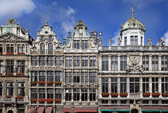 Brussels, Belgium. Facade of Grand Place. Brussels, Belgium stock photo