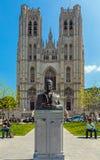 BRUSSELS, BELGIUM - APRIL 5, 2008: Bronze monument of Baudouin K Stock Photography