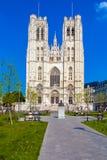 BRUSSELS, BELGIUM - APRIL 5, 2008: Bronze monument of Baudouin K Stock Photos