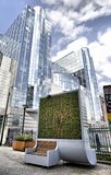 Brussels, Belgium - April 10, 2018: CityTree pollution removal living wall moss filter device installed at the European Parliament Stock Photo