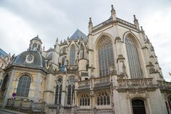 Cathedral of St. Michael and St. Gudula in Brussels, Belgium stock image