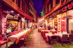 BRUSSELS, BELGIUM - 11 AUGUST, 2015: Famous street Stock Photo
