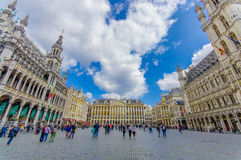 BRUSSELS, BELGIUM - 11 AUGUST, 2015: Grand place Stock Images