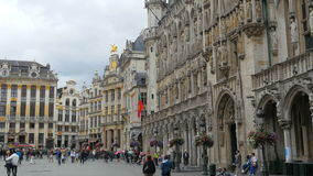BRUSSELS - BELGIUM, AUGUST 2015: Grand place, old city square stock footage