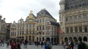 BRUSSELS - BELGIUM, AUGUST 2015: Grand place, old city square stock video