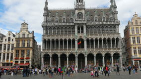 BRUSSELS - BELGIUM, AUGUST 2015: Grand place, old city square stock video footage