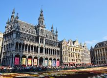 The Museum of the City of Brussels located at the Grand Place, Brussels, Belgium royalty free stock photos