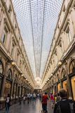 BRUSSELS, BELGIUM - AUGUST 24, 2017: The Saint-Hubert Royal Galleries stock photos