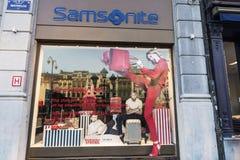 Samsonite shop in Brussels, Belgium Royalty Free Stock Photography