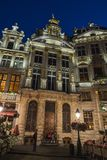 View of the Grand Place at night in Brussels, Belgium Stock Photo
