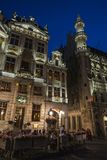 View of the Grand Place at night in Brussels, Belgium Royalty Free Stock Photos