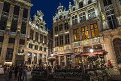 View of the Grand Place at night in Brussels, Belgium Stock Photography