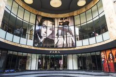 Zara shop in Brussels, Belgium. Brussels, Belgium - August 27, 2017: Zara shop in the center in Brussels, Belgium on August 27, 2017 royalty free stock photos