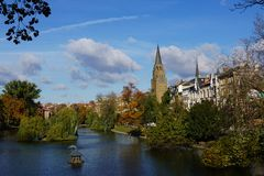 Brussels Belgium in Autumn Fall colours Royalty Free Stock Photo