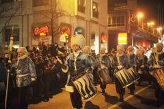 Brussels, Belgium, Christmas parade, Dec. 2013 Stock Photos