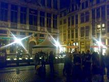 BRUSSELS, BELGIUM - DECEMBER 25, 2007: Architecture and people on the streets city. BRUSSELS, BELGIUM - DECEMBER 25, 2007: Architecture and people on the streets stock photo