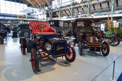 BRUSSELS, BELGIUM - DECEMBER 05 2016 - Autoworld Museum, old cars collection showing the history of automobiles from the beginning Royalty Free Stock Photography