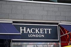 Hackett London store. Brussels, Belgium - December 9, 2017: Hackett London store. Hackett Limited is a multi-channel British menswear retailer, specialising in Stock Photo