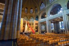 BRUSSELS, BELGIUM - DECEMBER 05 2016 - Interior of the National Basilica of the Sacred Heart Koekelberg Royalty Free Stock Image