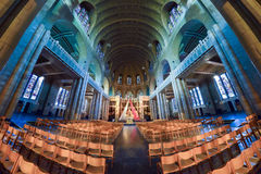 BRUSSELS, BELGIUM - DECEMBER 05 2016 - Interior of the National Basilica of the Sacred Heart Koekelberg Stock Photography
