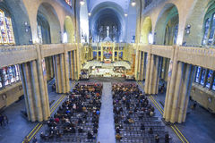 BRUSSELS, BELGIUM - DECEMBER 05 2016 - Interior of the National Basilica of the Sacred Heart Koekelberg Stock Images
