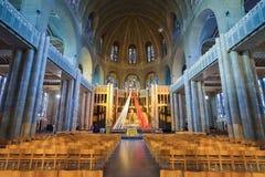 BRUSSELS, BELGIUM - DECEMBER 05 2016 - Interior of the National Basilica of the Sacred Heart Koekelberg Stock Image