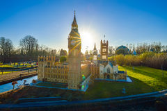 BRUSSELS, BELGIUM - DECEMBER 05 2016 - Mini Europe miniatures park in Brussels Royalty Free Stock Photo