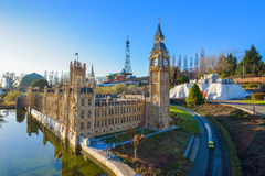 BRUSSELS, BELGIUM - DECEMBER 05 2016 - Mini Europe miniatures park in Brussels Stock Photos