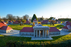 BRUSSELS, BELGIUM - DECEMBER 05 2016 - Mini Europe miniatures park in Brussels Stock Photo