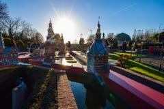 BRUSSELS, BELGIUM - DECEMBER 05 2016 - Mini Europe miniatures park in Brussels Royalty Free Stock Photo