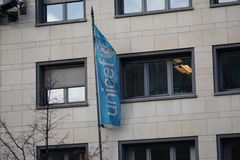 Unicef banner Royalty Free Stock Images