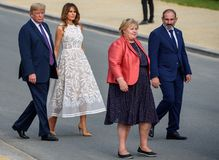 Donald Trump, Melania Trump, Erna Solberg, Nikol Pashinyan royalty free stock images