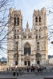 Holy Cathedral in Brussels royalty free stock images