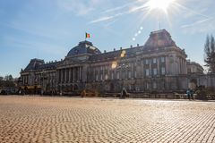 Palais de Bruxelles. Brussels, Belgium, 23 February 2019: The Royal Palace at Brussels, Palais de Bruxelles royalty free stock images